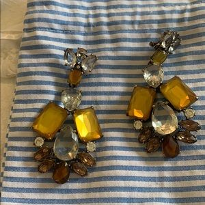 J Crew Amber crystal earrings beautiful statement